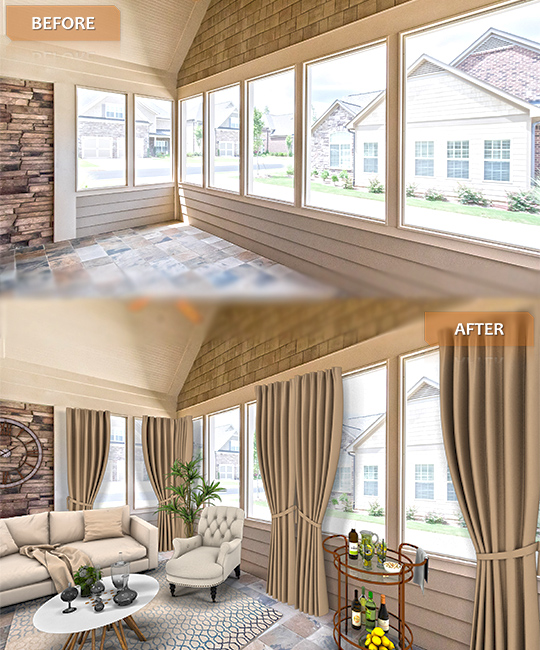virtual staging before after vrx staging