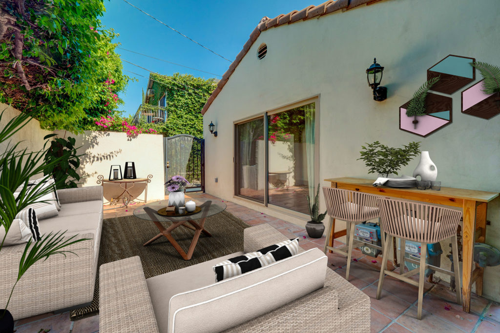 outdoor space virtual staging