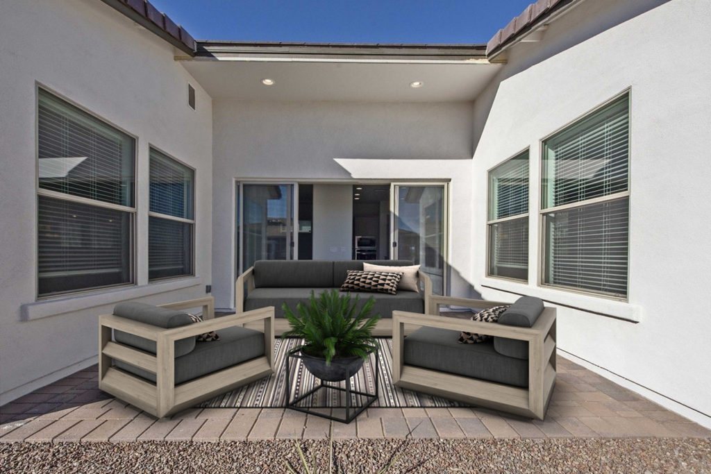 patio virtual staging